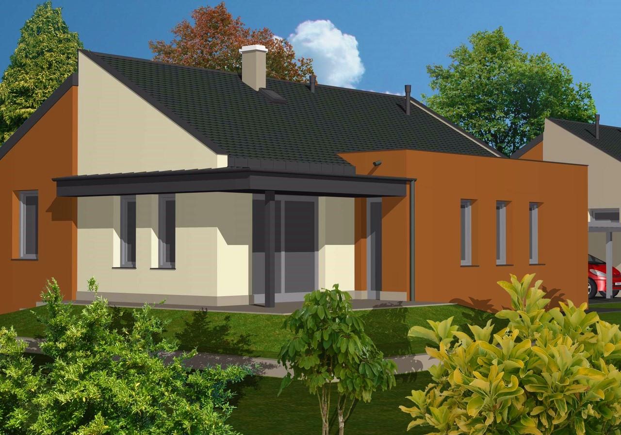 bungalov vizualizácia